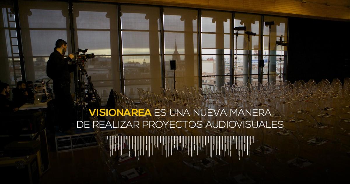 visionarea ofrece servicios audiovisuales de eventos y alquiler de equipos